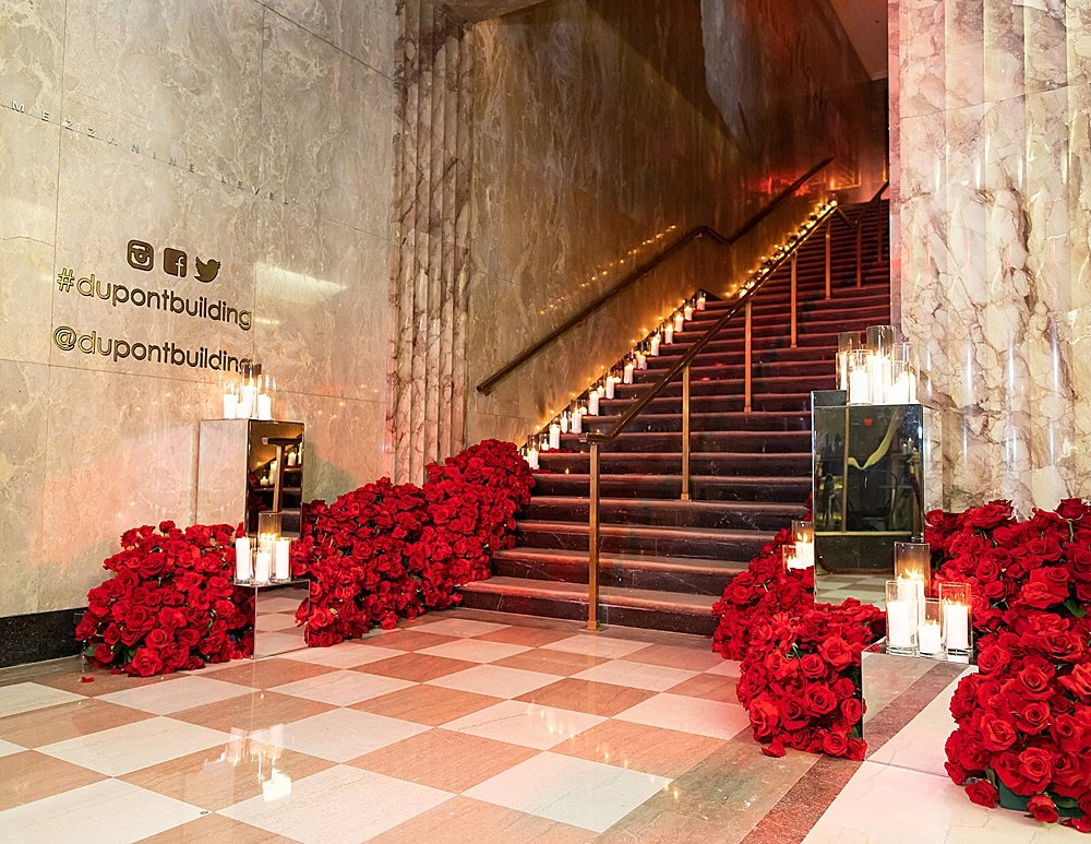 This 3-day Indian Wedding for the Venus et Fleur founders ended with a beautiful Eternity Rose filled reception at The Historic Alfred I. DuPont Building in Miami, FL